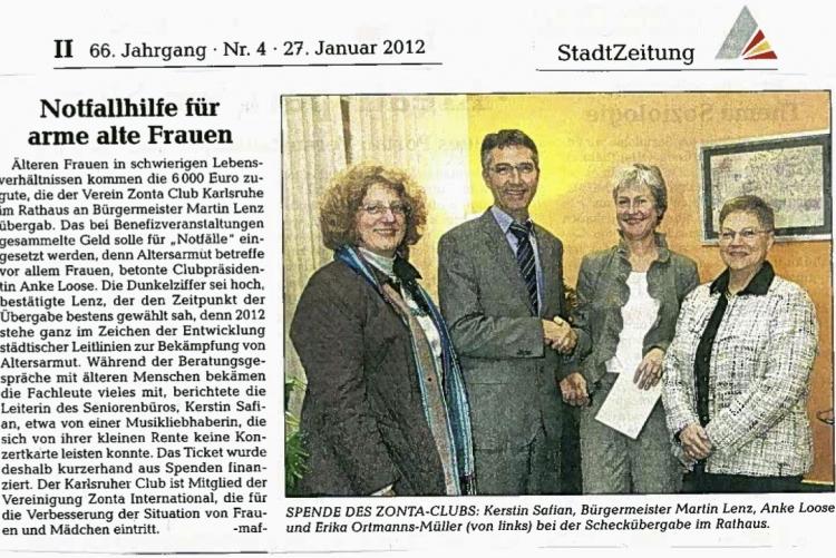 Stadtzeitung, 27.01.2012