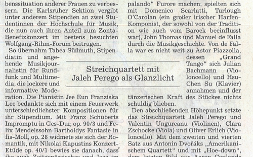 Bericht Benefizkonzert - BNN, 02.02.2015